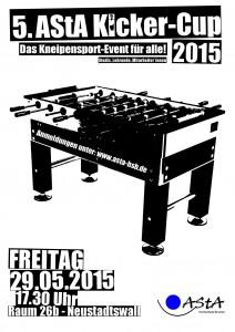 Plakat Kicker-Cup 2015